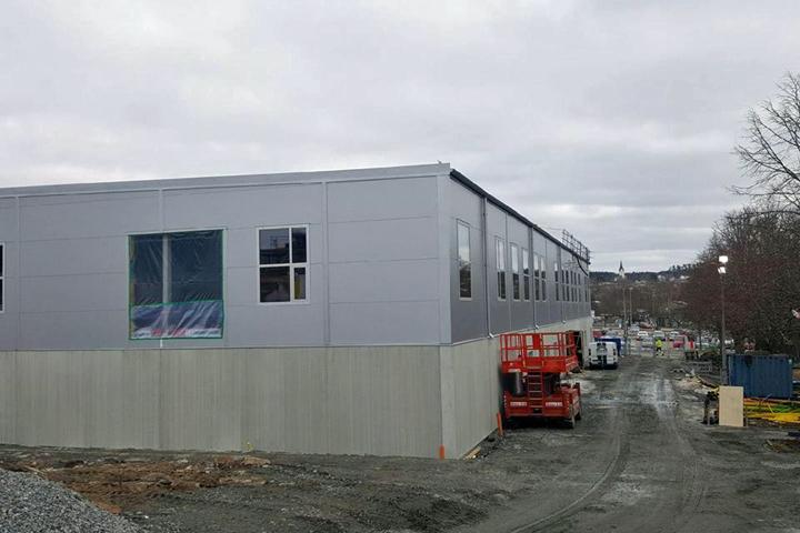 Film över sporthallen i Lindome