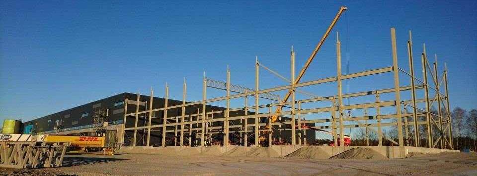 Utbyggnad av logistikhall