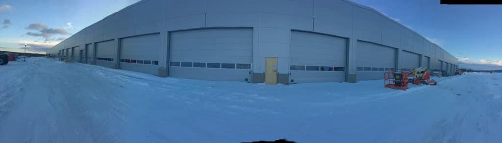 Flygterminalen med garage snart klar
