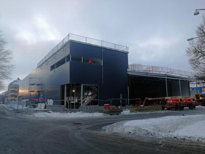 Överbyggnaden till matvarubutik snart klar