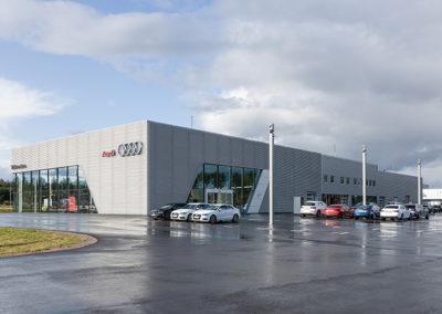 Bilmetro Audi Gävle  för Västanfors stålbyggnader