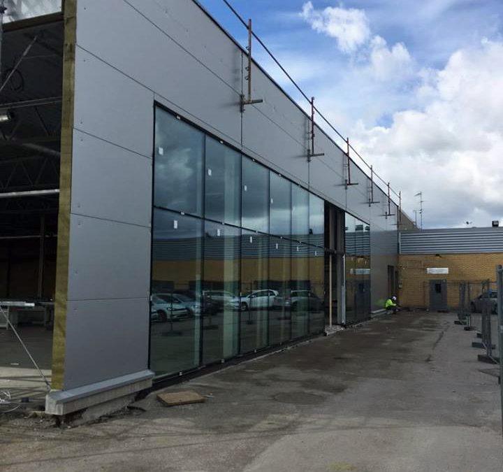 Koncepthallen för Volkswagen i Västerås