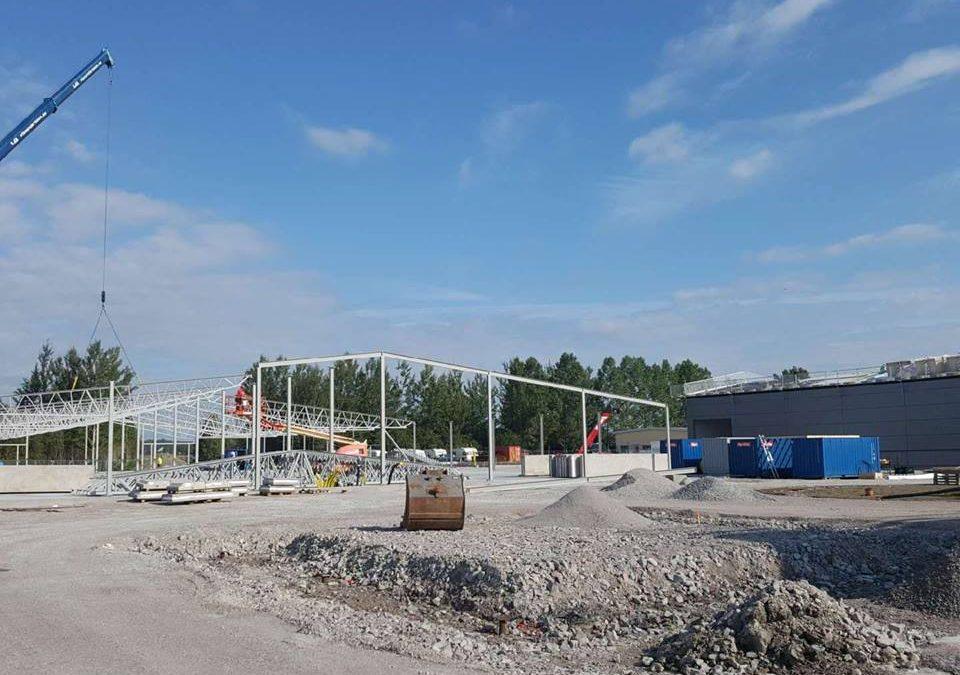 Takstolar till Örebro Bostäders nya garage