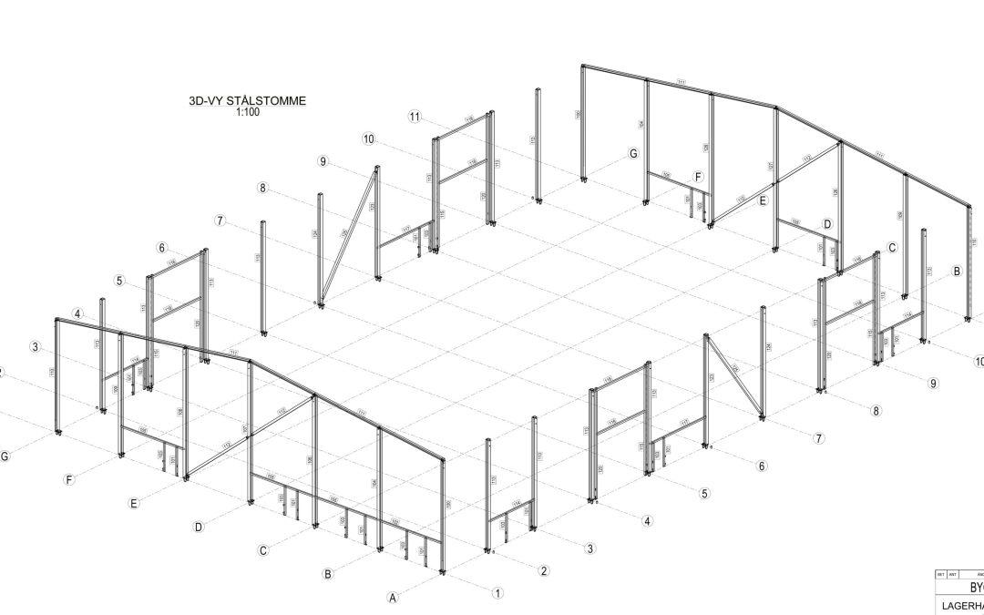 Kombinerad lager och padelhall