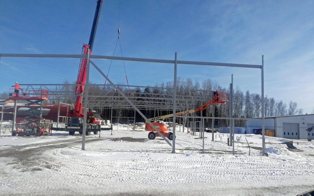 Ny stålhall för Postnord i Avesta